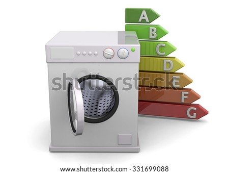 Washer and Energy Saving Concept - 3D