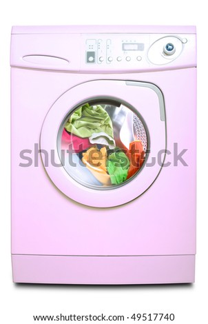 Washer. Isolated on white background