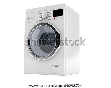 Washer isolated on white background. 3d illustration