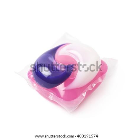 Washing capsule pod isolated - stock photo