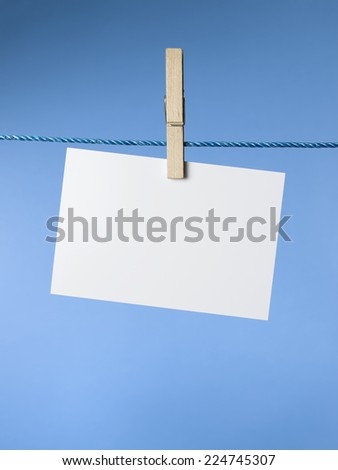 Washing Line with hanging blank paper