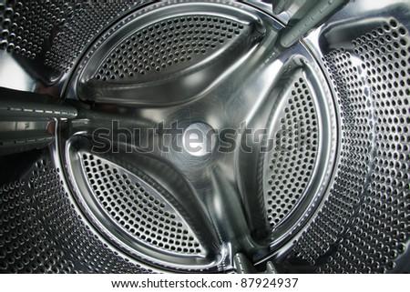 washing machine drum - stock photo