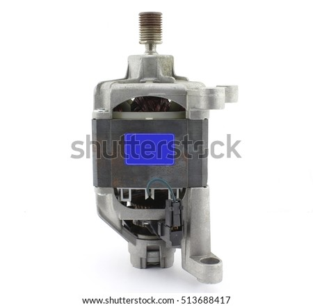 Electric motor stock images royalty free images vectors for Washing machine electric motor