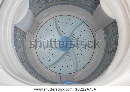Washing Machine ,inside - stock photo