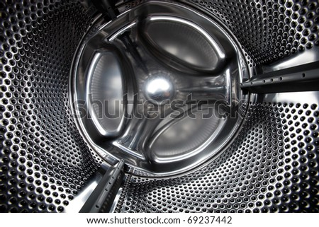 Washing Machine (inside) - stock photo