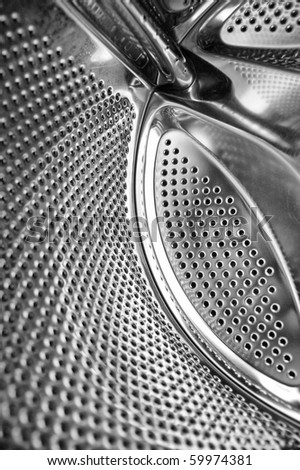 washing machine inside texture - stock photo