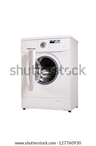 washing machine . isolate - stock photo