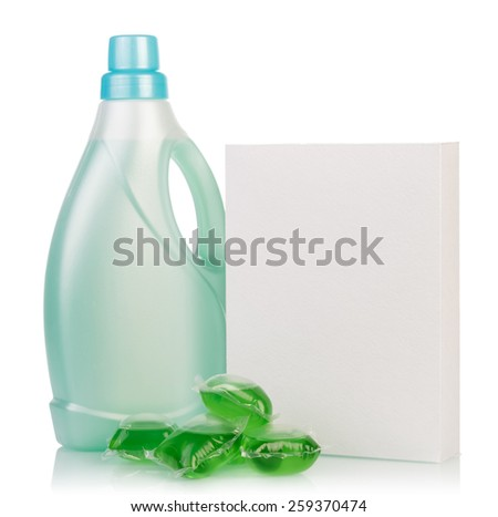 Washing powder and Cleaning item on white
