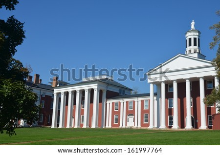 Washington and Lee University in Lexington Virginia - stock photo