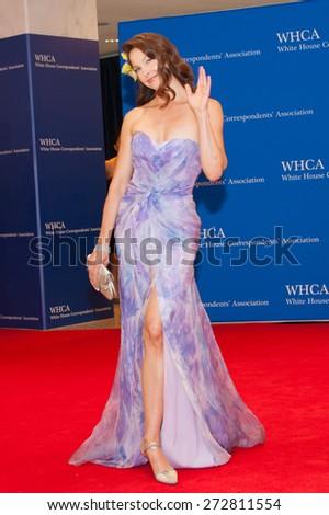 WASHINGTON APRIL 25 - Ashley Judd arrives at the White House Correspondents' Association Dinner April 25, 2015 in Washington, DC  - stock photo