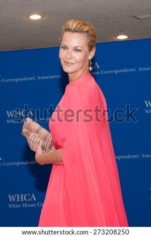 WASHINGTON APRIL 25  Connie Nielson arrives at the White House Correspondents Association Dinner April 25, 2015 in Washington, DC  - stock photo