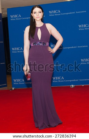 WASHINGTON APRIL 25 - Michelle Trachtenberg arrives at the White House Correspondents' Association Dinner April 25, 2015 in Washington, DC  - stock photo
