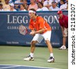 WASHINGTON - AUGUST 2: Reigning champion David Nalbandian (ARG ) is defeated by James Blake (USA, not pictured) at the Legg Mason Tennis Classic on August 2, 2011 in Washington. - stock photo