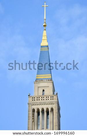 Washington D.C. - Architectural details of Basilica of the National Shrine Catholic Church  - stock photo