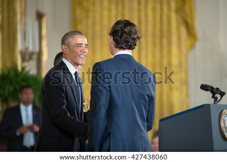 WASHINGTON, D.C. - MAY 19: President Obama awards  Dr. Jonathan Rothberg on May 19, 2016 in Washington, D.C. The ceremony recognized the contributions of 17 top scientists, engineers, and inventors.