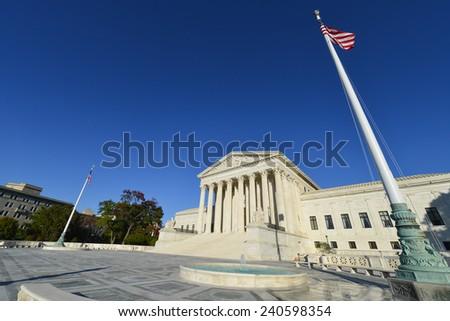 Washington D.C - Supreme Court Building - United States of America  - stock photo