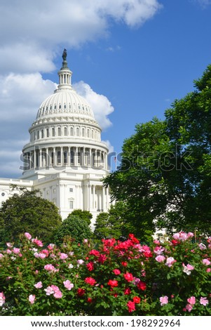 Washington D.C. The Capitol Building in spring - stock photo