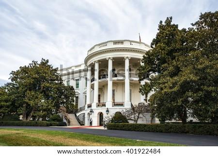 WASHINGTON D.C., USA - Apr 01, 2016: The White House Washington DC, United States - stock photo