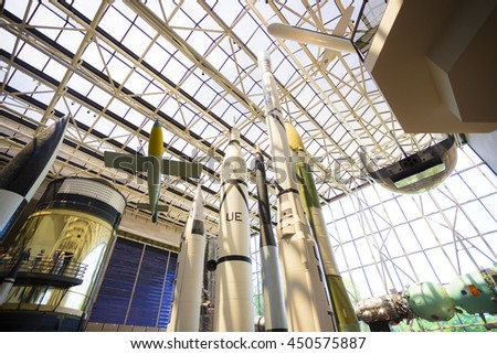 WASHINGTON D.C., USA MAY 2016: Air and space museum. Editorial only.
