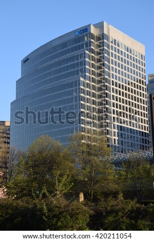 WASHINGTON, DC - APR 16: Deloitte office in Washington, DC, as seen on Apr 16, 2016. Deloitte is one of the Big Four professional services firms in the world and the largest by revenue and employees. - stock photo