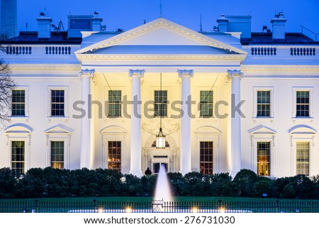 Washington, DC at the White House. - stock photo