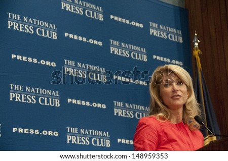 WASHINGTON, DC - AUGUST 5: Texas State Senator Wendy Davis speaks to the National Press Club, August 5, 2013 in Washington, DC