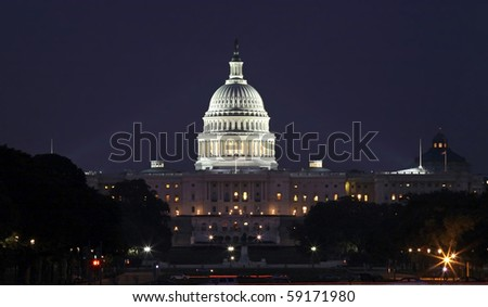 WASHINGTON, DC - AUGUST 15: United States Capitol building taken August 15, 2007 in Washington DC.