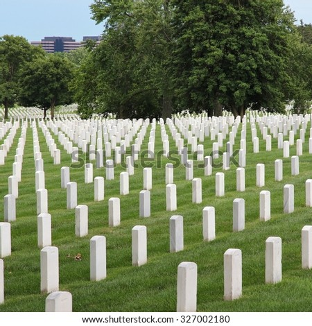 Washington DC, capital city of the United States. Arlington National Cemetery.