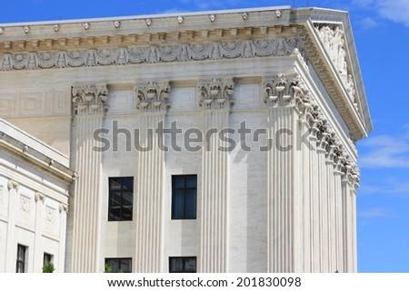 Washington DC, capital city of the United States. US Supreme Court building. - stock photo