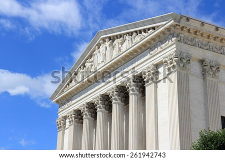 Washington DC, capital city of the United States. US Supreme Court building.