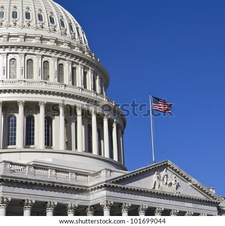 Washington DC , Capitol Building - detail, US - stock photo