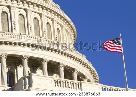 Washington DC , Capitol Building - detail, US