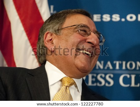 WASHINGTON, DC - DEC. 18: Secretary of Defense Leon Panetta addresses a luncheon at the National Press Club, December 18, 2012 in Washington, DC
