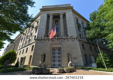 Washington DC - Department of Justice Building  - stock photo