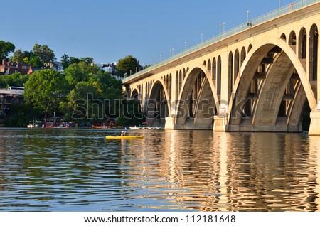 Washington DC, Francis Scott Key Bridge - stock photo