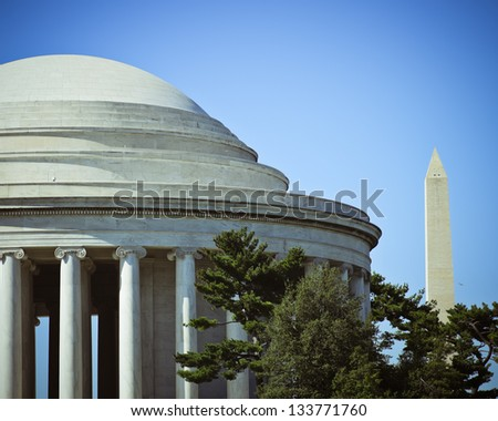 Washington DC Icons - stock photo