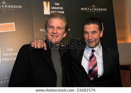 WASHINGTON DC - JANUARY 20: Actors Matthew Modine and Billy Baldwin arrive at the Creative Coalition dinner on behalf of the presidential inauguration on January 20, 2009 in Washington DC. - stock photo