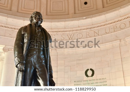 Washington DC, Jefferson Memorial - stock photo