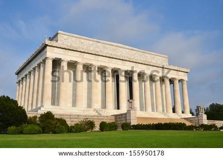 Washington DC, Lincoln Memorial - stock photo