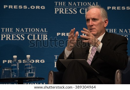 WASHINGTON, DC -MARCH 7, 2016. Paul Wiedefeld, new CEO and general manager of the Washington Metro system, speaks to a National Press Club luncheon