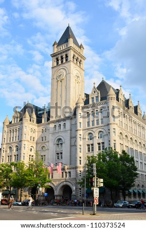 Washington DC - Old Post Office - stock photo