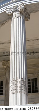 Washington DC. Pillars. - stock photo