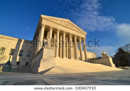Washington DC, Supreme Court Building - stock photo