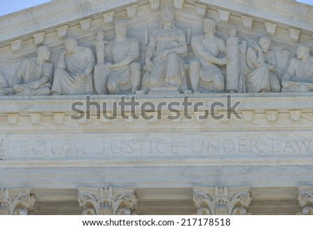 Washington DC -Supreme Court Building architectural details - stock photo