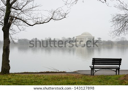 Washington DC, Thomas Jefferson Memorial - stock photo