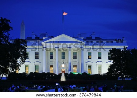 Washington DC, United States - August 2015: The White House