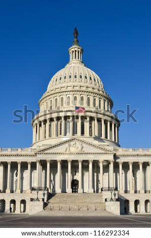 Washington DC, United States Capitol Building east facade - stock photo