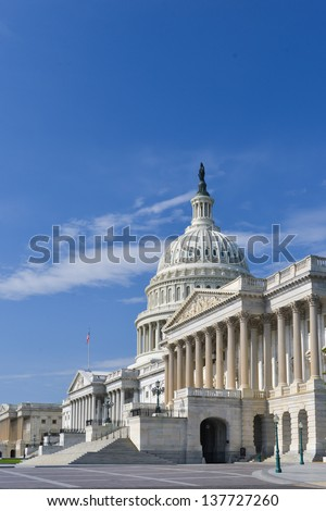 Washington DC, US Capitol Building in spring - stock photo