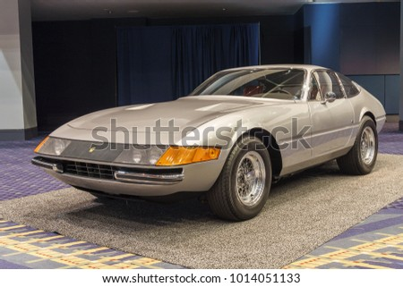 WASHINGTON, DC, USA -- January 25, 2018: a Ferrari Daytona is on display at the Washington, DC Auto Show.