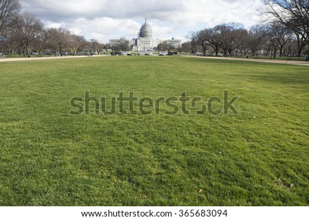 Washington DC, USA - January 10, 2016: The United States Capitol, often called Capitol Hill, is the seat of the United States Congress, the legislative branch of the U.S. federal government.